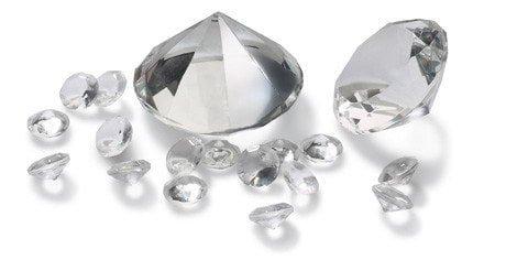 Dekodiamanten Hochzeitsdeko Dekosteine Tischdeko Diamantenset Glasdiamant