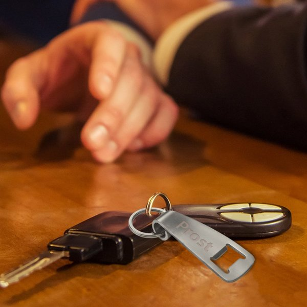 Schlüsselanhänger mit Flaschenöffner und Gravur-Copy
