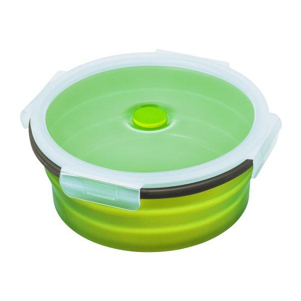 Bowl aus Silikon Vesperdose Silikonschüssel faltbar mit stabilem Deckel