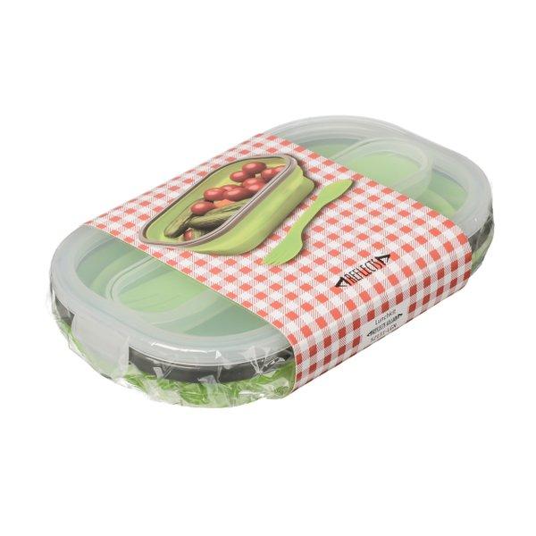 Lunch Set Lunch Box Frischhaltebox faltbar mit Göffel in Größe M