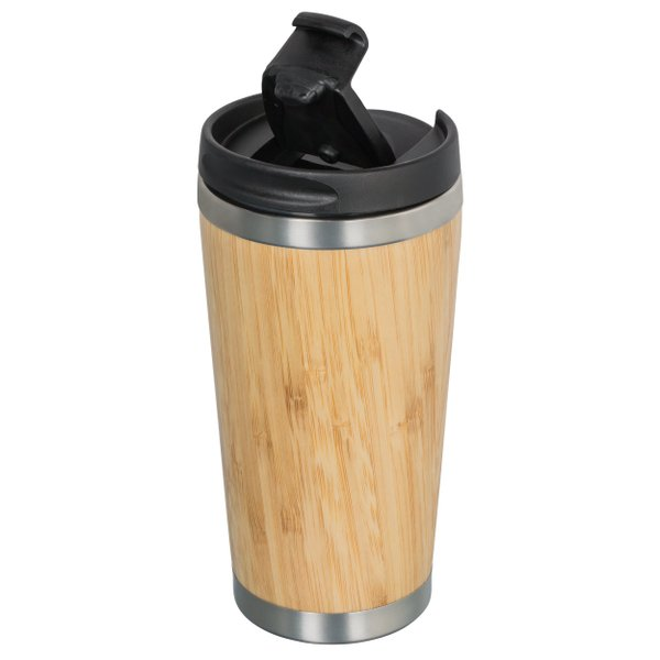 Coffee to Go Becher Bambus Isolierflasche 350ml