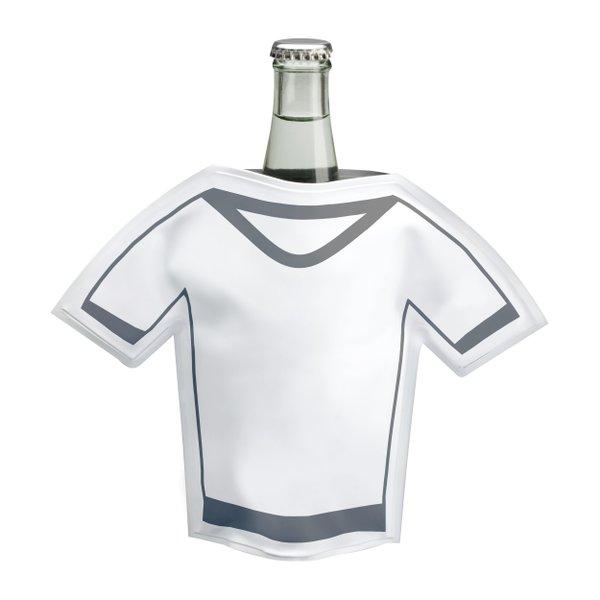 Flaschenkühler aus PVC in T-Shirt Form