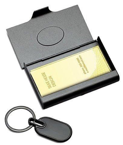 Visitenkartenetui Geschenkset mit Schlüsselanhänger FLORENCE