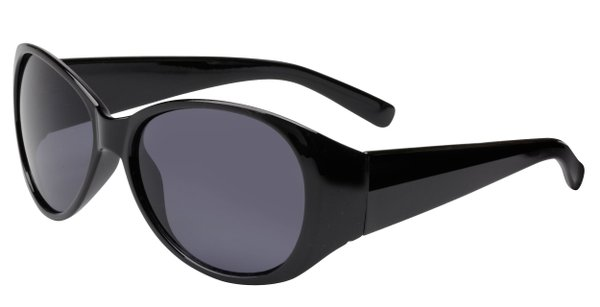 Sonnenbrille Long Beach mit Kunststoffrahmen, schwarze Gläser