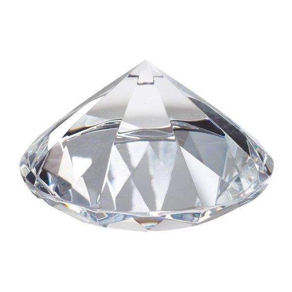 Dekodiamant Hochzeitsdeko Dekostein Briefbeschwerer Glasdiamant 10cm