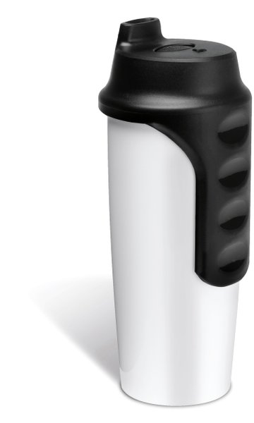 Isolierbecher to go aus Edelstahl in weiß