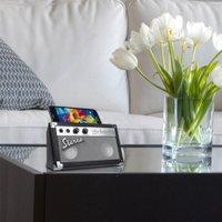 Gravierbarer Stereo Bluetooth®-Lautsprecher Retro mit Freisprecheinrichtung schwarz