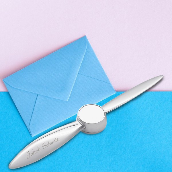Brieföffner mit Namensgravur Propeller