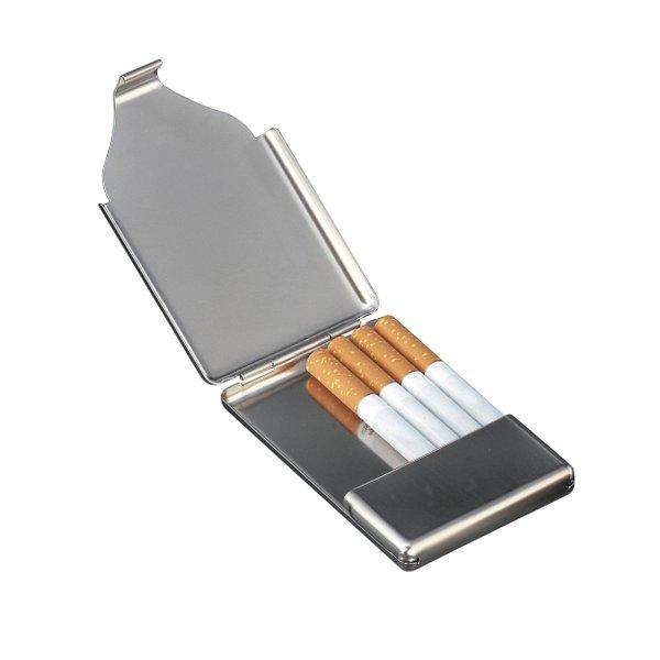 Zigarettenetui Visitenkartenetui mit Gravur mattsilber