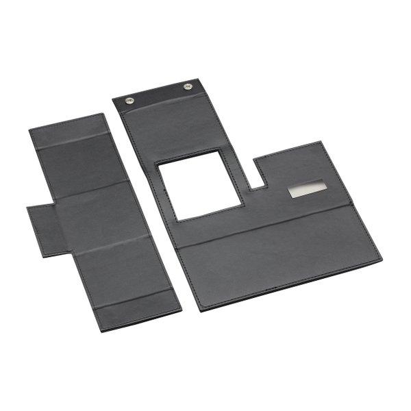Schreibtischset aus Kunstleder faltbar mit Handyablage