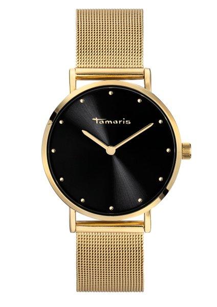 Tamaris ANDA Damenuhr Armbanduhr gold schwarz