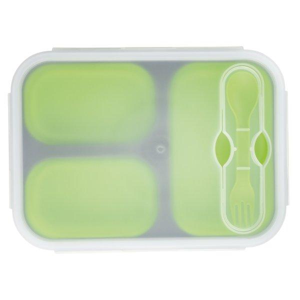 Lunch Set Lunch Box Frischhaltebox faltbar mit Göffel in Größe XL