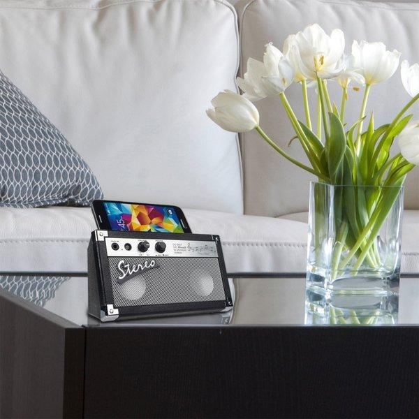 Gravierbarer Stereo Bluetooth®-Lautsprecher Retro mit Freisprecheinrichtung