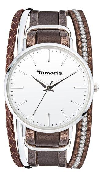 Tamaris ANNA Armbanduhr silber braun