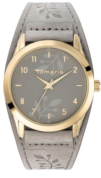 Tamaris Alena Damenuhr Armbanduhr grau gold