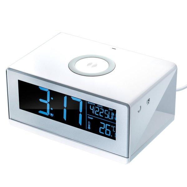 Wireless Charger mit Wecker Temperaturanzeige Nachtlicht Touchsteuerung