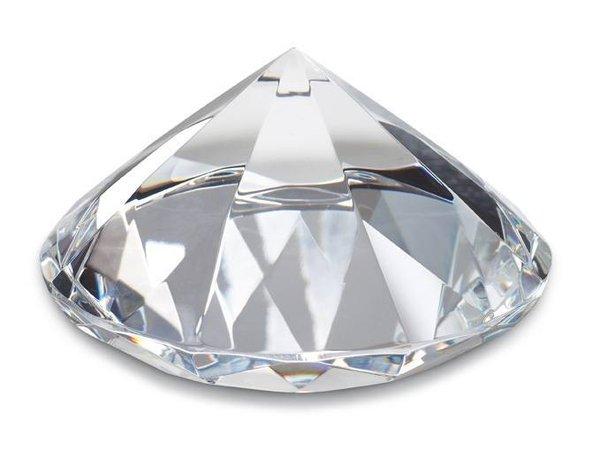 Dekodiamant 80mm Hochzeitsdeko Dekostein Briefbeschwerer Glasdiamant 8cm
