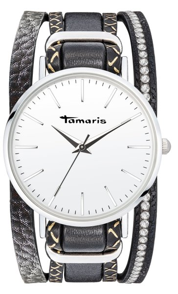 Tamaris ANNA Armbanduhr silber schwarz