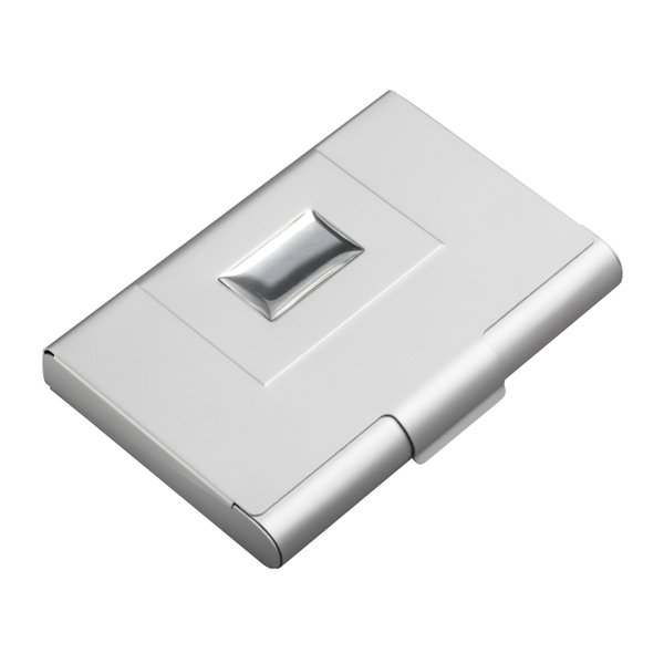 Visitenkartenbox Aluminium mit Platz für ca. 30 Visitenkarten